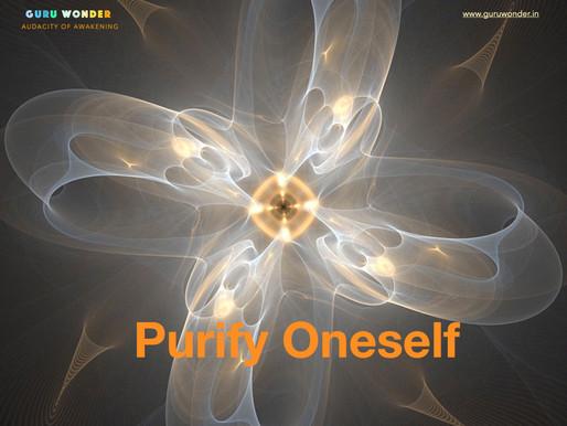 Purifying Oneself