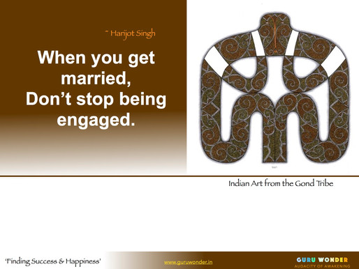 Don't stop being engaged