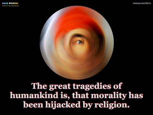 The hijack of morality by religion