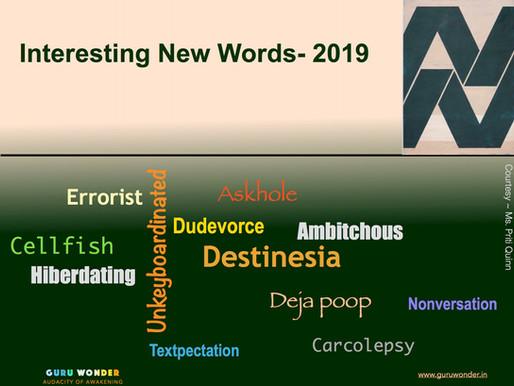 Interesting new words - 2019