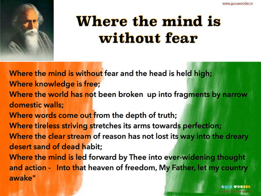 Where the mind is without fear.