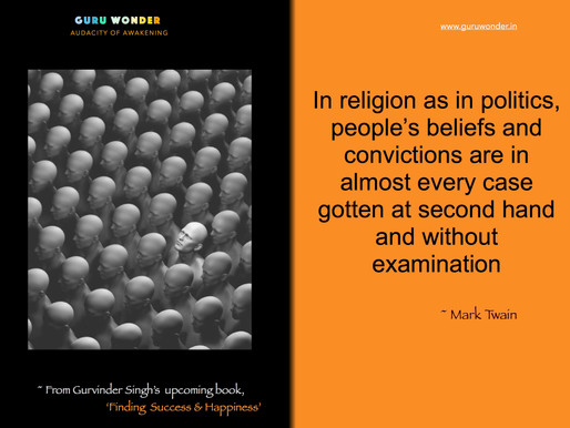 Second hand  beliefs and convictions