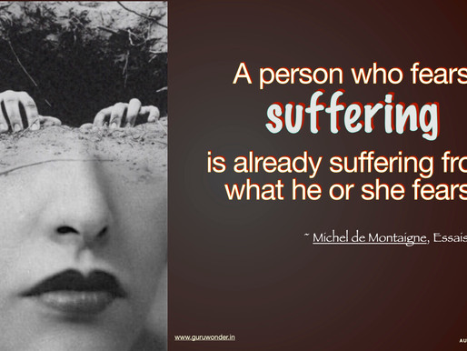 Already suffering because of fear