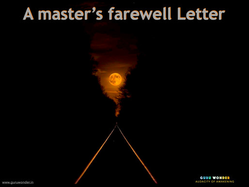 A master's farewell Letter