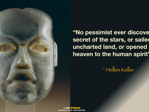 Pessimists never discovered anything, but ..