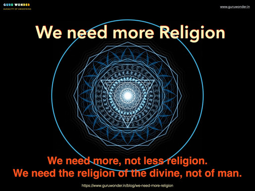 We need more religion