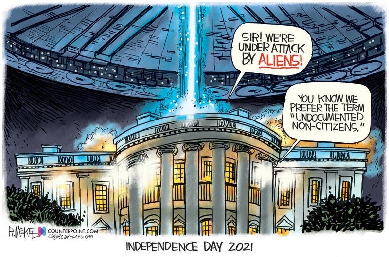 Cartoonist Rick McKee - 3rd July 2021