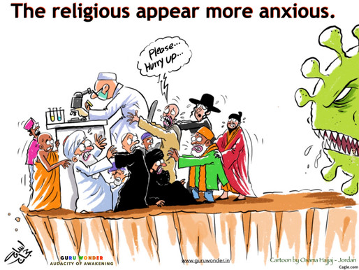 The religious appear more anxious.