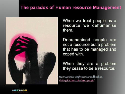 The Paradox of Human Resources Management