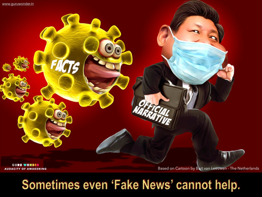 Coronavirus facts chase China's official narrative.