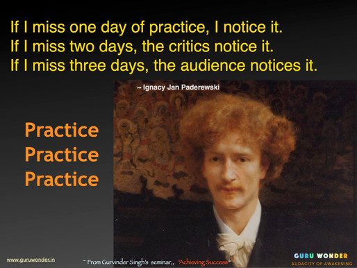Practice, Practice, Practice for Mastery.