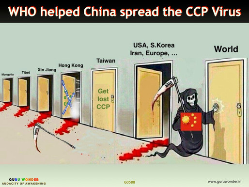 WHO helped China deliberately spread the CCP Virus