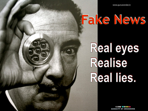 Fake news - Real eyes, Realise, Real lies.