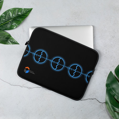 M.A.C.J Series Black Laptop Sleeve (Horizontal Design)