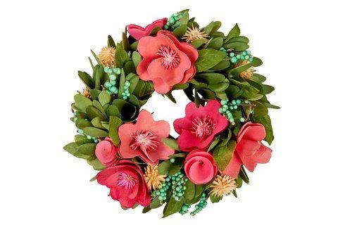 Wooden Floral Wreath