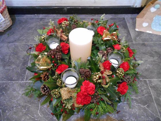 Multi candle Christmas arrangement