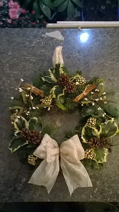 Christmas Cream Wreath