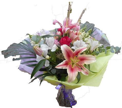 Small Aqua Hand Tied Bouquet