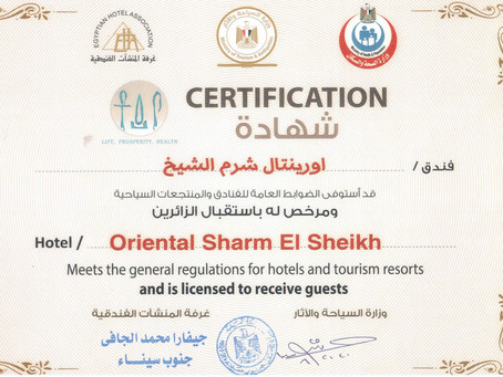Officially certified to welcome guests!