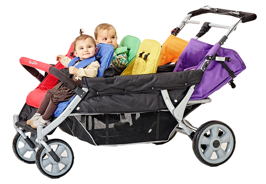 DSJ06FRL – Heavy Duty 6-Seater Pushchair