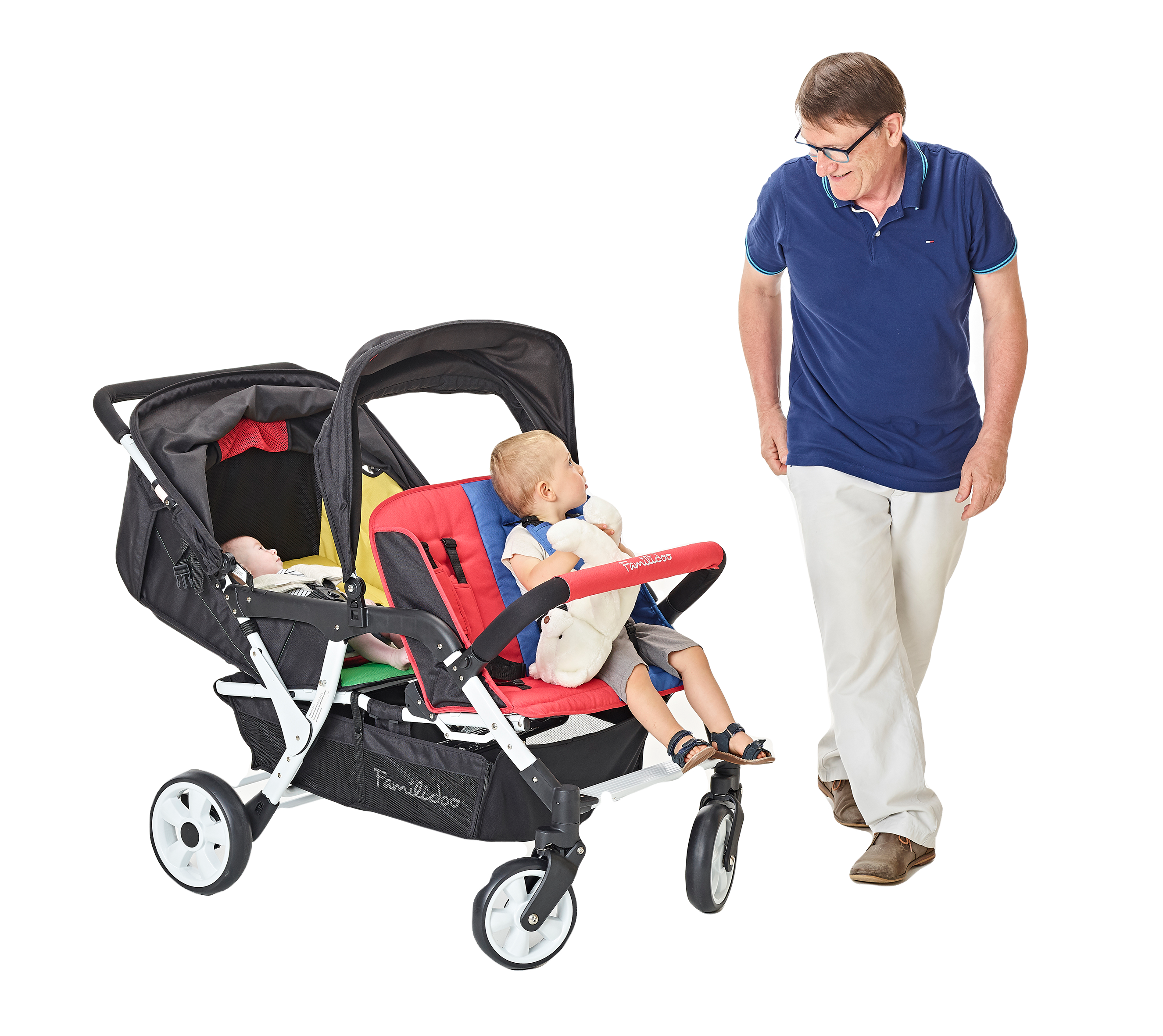 H04E-Familidoo-4 seater pushchair
