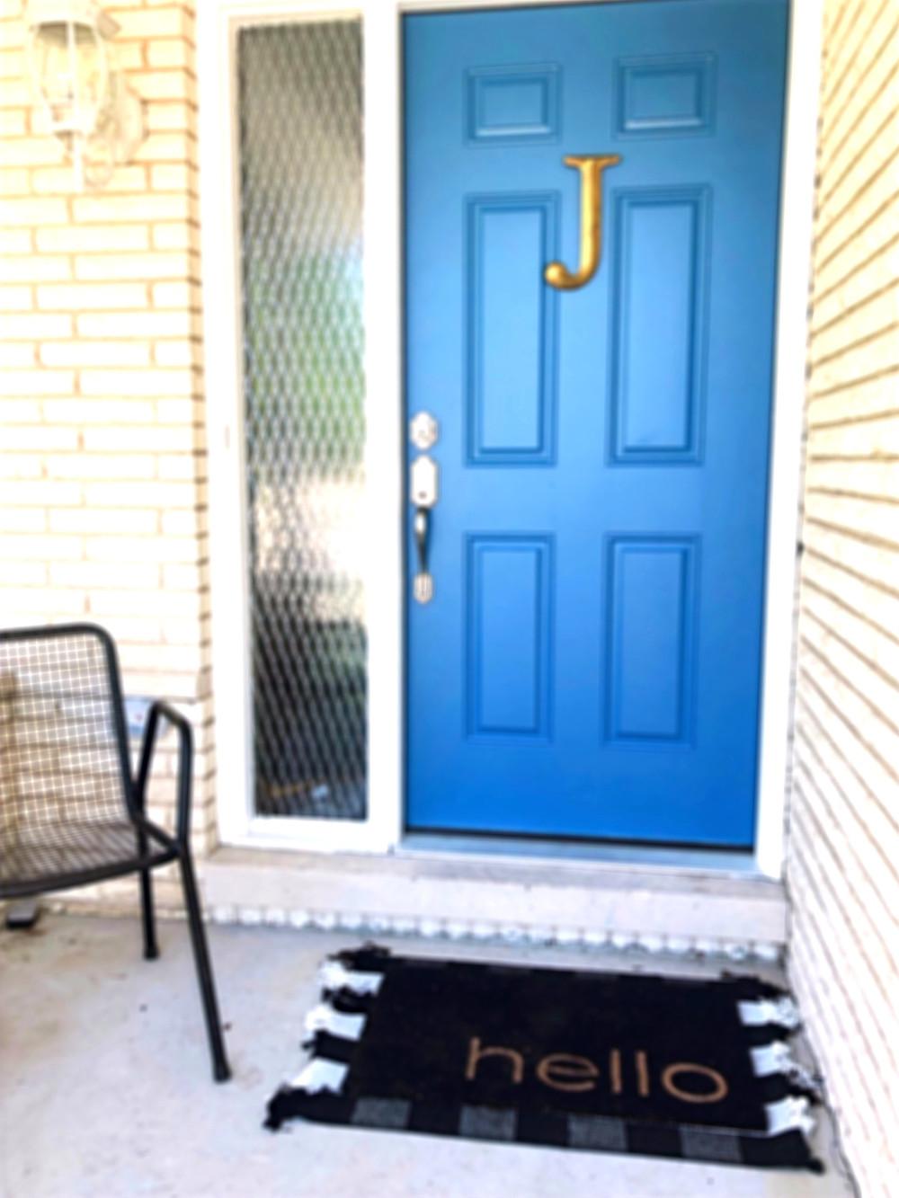 Front door after pop of color