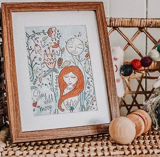 Stay Wild Moon Child - Hello Petal Art Print