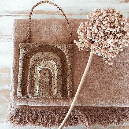 Rainbow Clay Hanging Tile - Flora + Grain