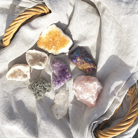 Raw Crystals - Opal + Sage