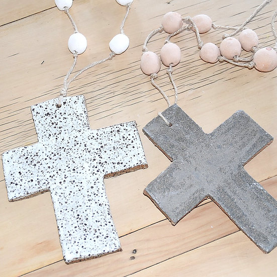 Flora + Grain Beaded Cross