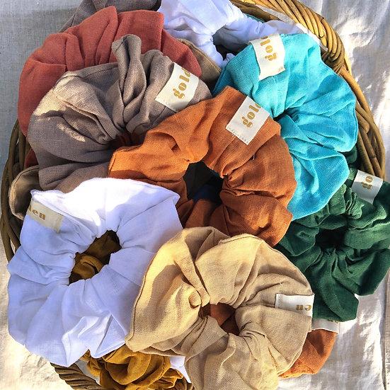 Linen Scrunchie - Golden the Label