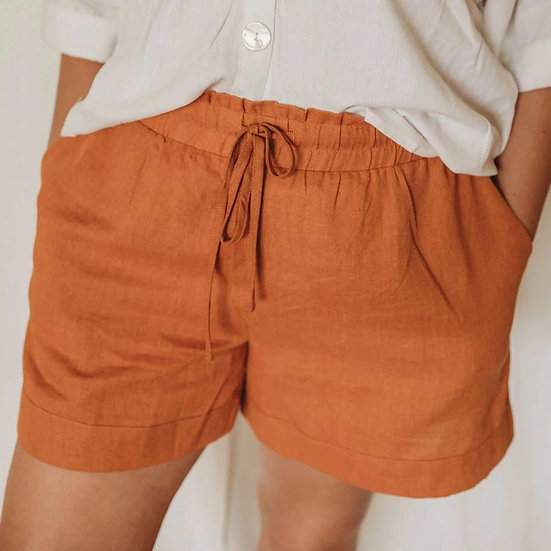 Golden the Label - Linen Lounge Shorts {3 colours}