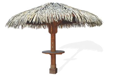 Ocean Umbrellas made with synthetic thatch