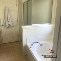 Before & after bathroom remodel in Frisc