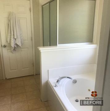Before & after bathroom remodel in Frisc