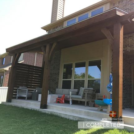 backyard roof addition:pergola in frisco