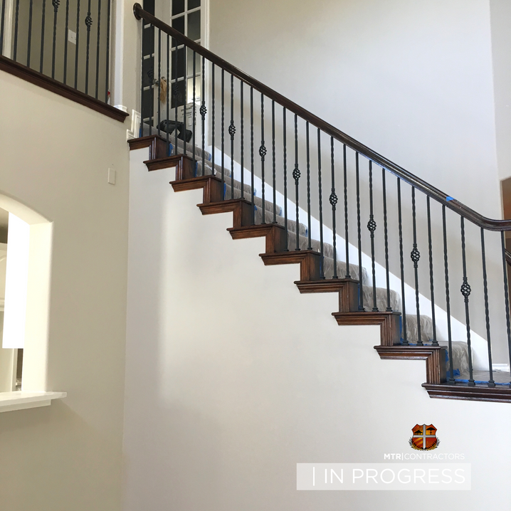 staircase remodeling project in Mckinney