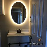Complete half bathroom remodeling prejec