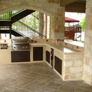outdoor kitchen in frisco tx