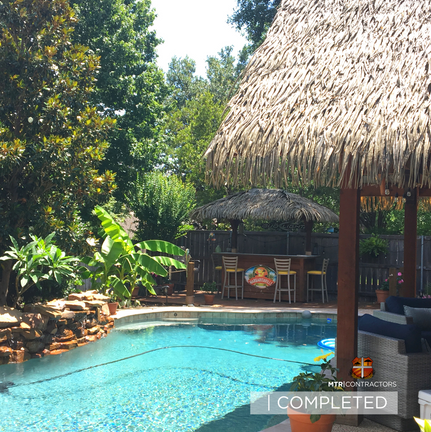 Beautiful Synthetic thatch cabana and ti