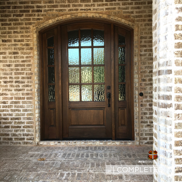 construction of new doorway and arch in