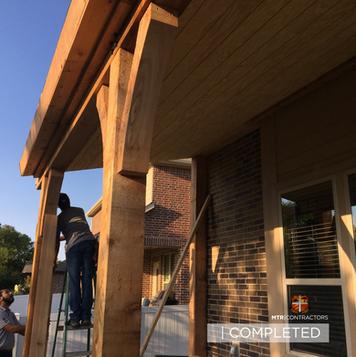 Beautiful pergola:roof extension in fris