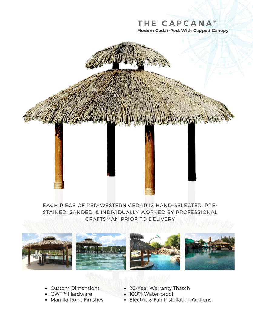 The Capcana Synthetic Thatch Palapa