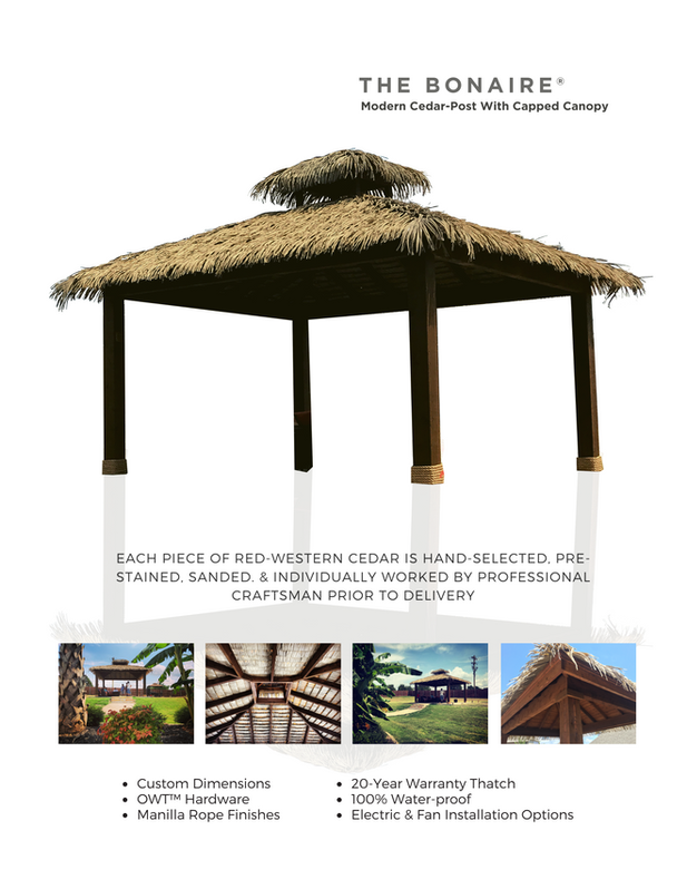 The Bonaire Synthetic Thatch Cabana