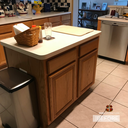kitchen island before and after in North