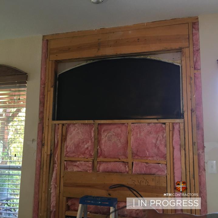 In progress beautiful doorway remodeling