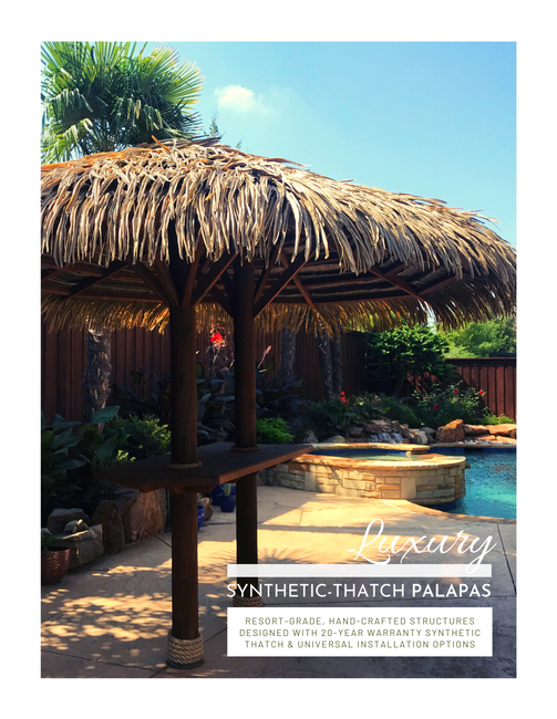 Luxury Synthetic Thatch Palapas
