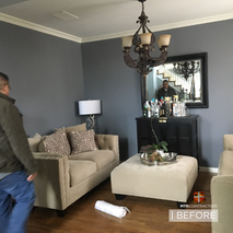before and after french door remodeling