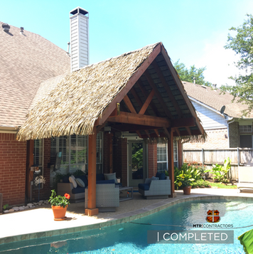 Synthetic Thatch Cabana by MTR Contracto