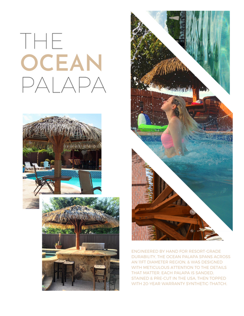 Ocean Synthetic Thatch Palapa  2